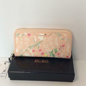 BCBG Floral Zip Around Wallet